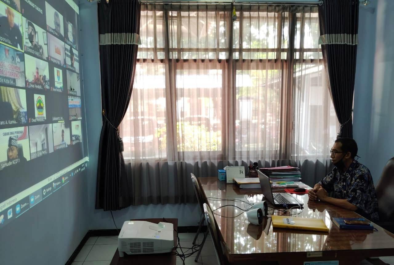 Koordinasi Kebijakan Pendidikan melalui Video Teleconfrence